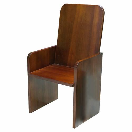 Chaise moderne bois noyer s1