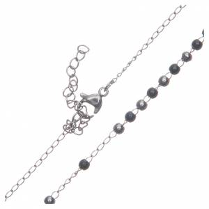 Chapelets en métal: Chapelet classique silver noir acier 316L