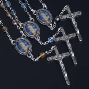 Dizainiers: Chapelet dizainier verre Notre Dame de Gonari bleu jaune noir