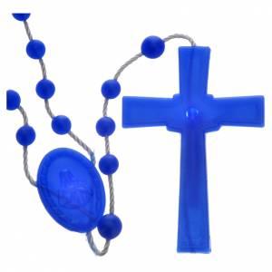Chapelet en nylon bleu perlé s2