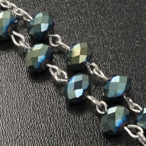 Chapelet en perles cristal vert 8x6mm s4