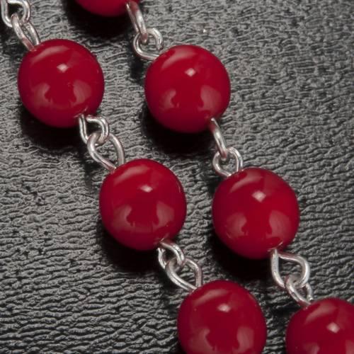 Chapelet Ghirelli Lourdes rouge 7 mm s5