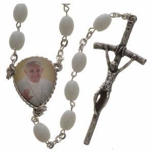 Chapelet Ghirelli Pape François verre de Bohème s1
