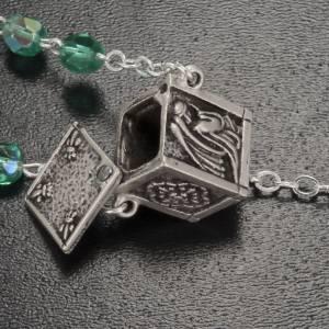 Chapelet Ghirelli vert d'eau médaille mini boîte 6 mm s4