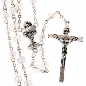Chapelets perles d'imitation: Chapelet première communion perles transparentes.