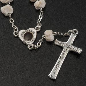 Bracelets, peace chaplets, one-decade rosaries: Chaplet in stone with Medjugorje soil