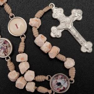 Chaplet Way of the Cross Medjugorje white stone s4