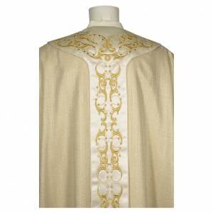 Chasubles: Chasuble 90% laine 10% lurex avec croix et décors