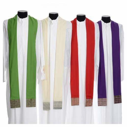 Chasuble en laine avec bandes appliquées en soie s9