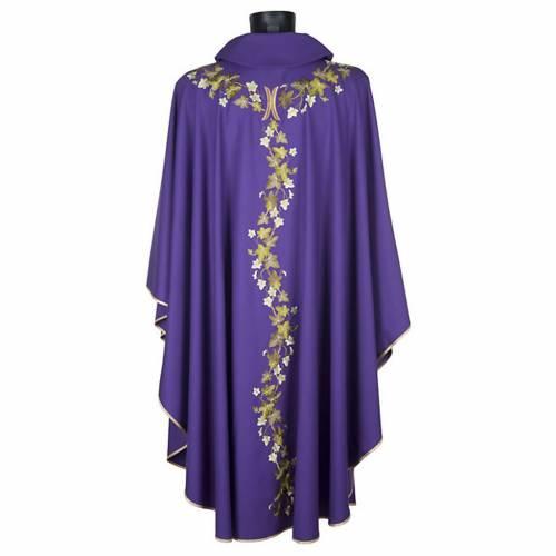 Chasuble et étole  violet avec lierre s4