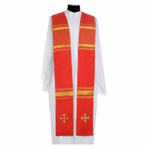 Chasuble in 100% polyester, cross and golden embroidery s5