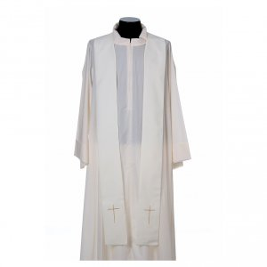 Chasuble in 80% polyester 20% wool, Lamb of God s5