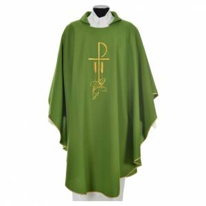 Chasuble in polyester with Chi Rho and Loaves and Bread s9