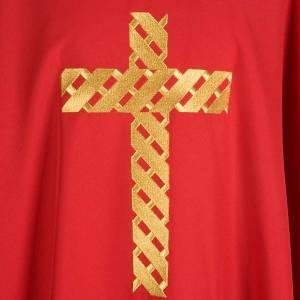 Chasuble liturgique broderie croix dorée s5