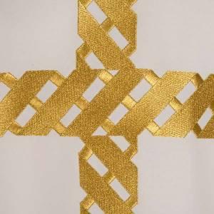Chasuble liturgique broderie croix dorée s6