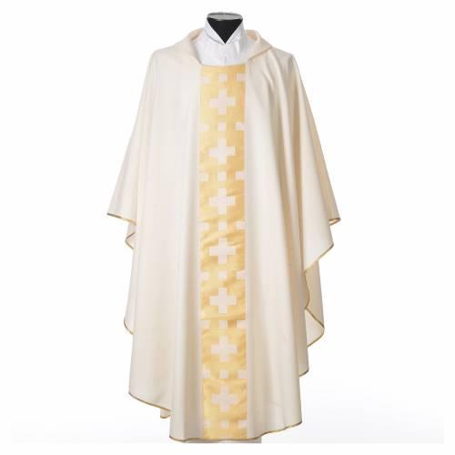 Chasuble polyester croix régulières s4