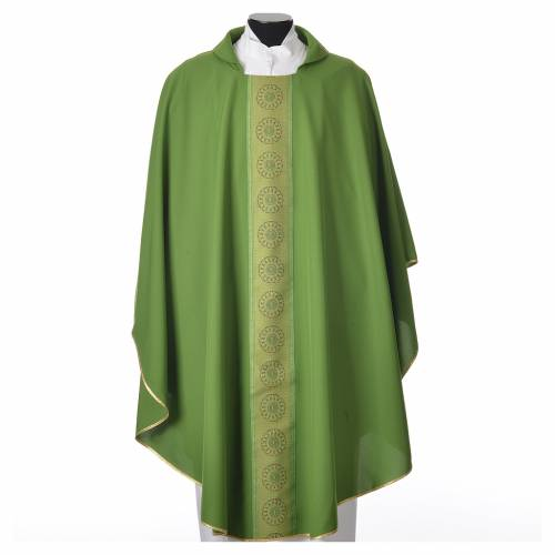 Chasuble polyester cross embellishments s6