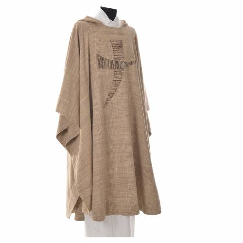 Chasuble St. Francis model with tau symbol in cotton s4