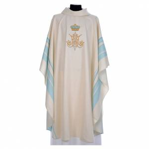 Chasubles: Chasuble with Marian symbol embroidery