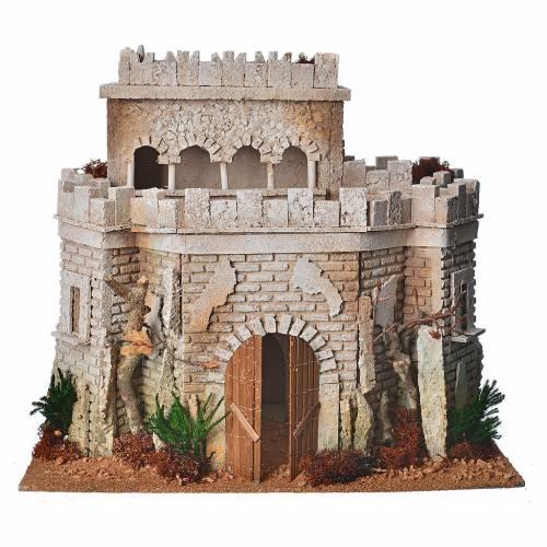 Château arabe en liège pour crèche s5