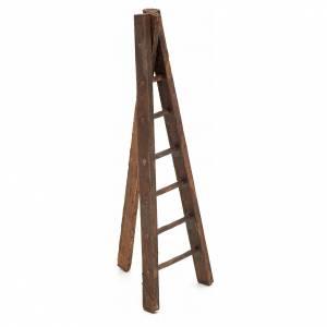 Échelle trois pieds en bois crèche h 12 cm s1