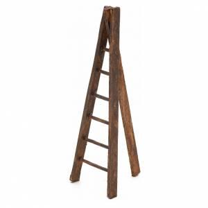 Échelle trois pieds en bois crèche h 12 cm s2