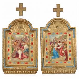 Chemin de croix 15 stations autels impression sur bois 30x19 cm s3