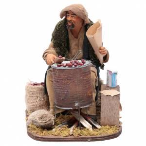 Neapolitan Nativity Scene: Chestnut seller 30 cm for Neapolitan nativity scene