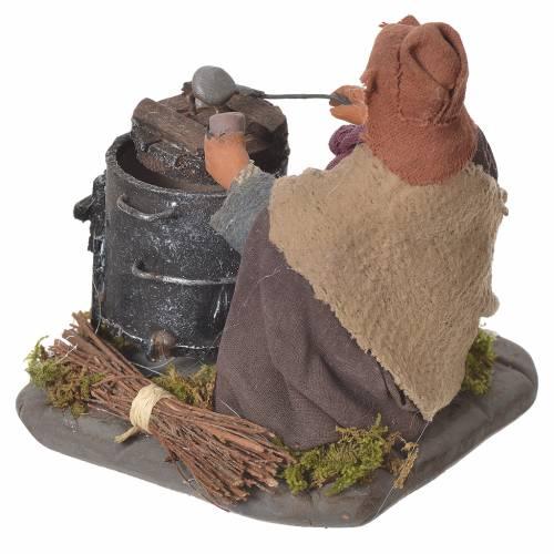 Chestnut seller with fire, Neapolitan Nativity 10cm s3
