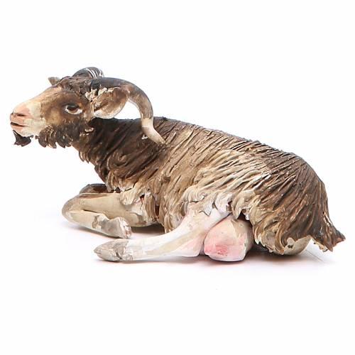 Chèvre couchée 18cm crèche Angela Tripi s2