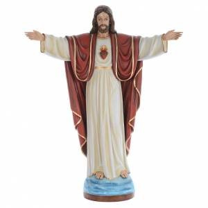 Fiberglass statues: Christ the Redeemer, statue in painted fiberglass, 160cm