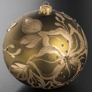Christmas bauble, gold glass and decorations, 15cm s2