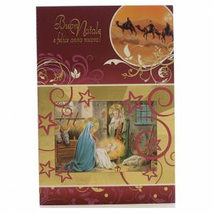 Greeting cards: Christmas card, Holy family and wishes