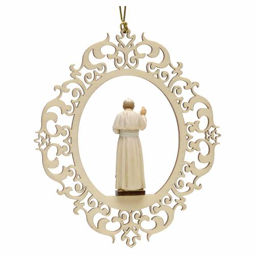 Christmas decor Pope John Paul II wood s2