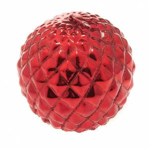 Christmas candles: Christmas decoration candle sphere diamonds red