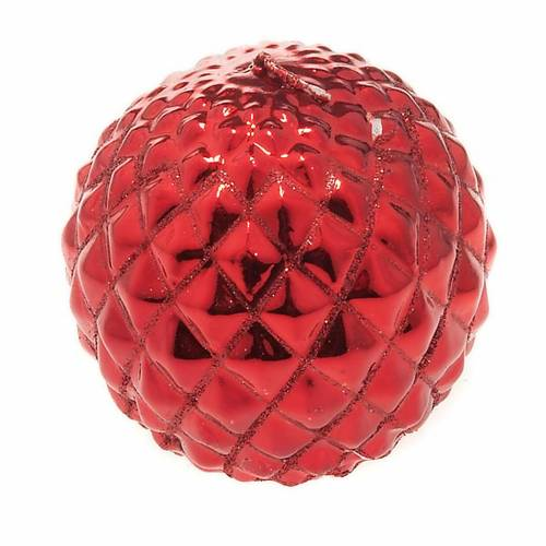 Christmas decoration candle sphere diamonds red s1