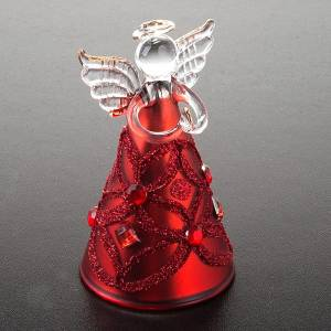 Christmas decoration glass angel glitter and strass s7