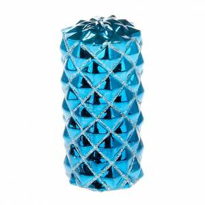 Christmas decoration large candle turquoise s1