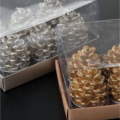 Christmas decoration place card cone shaped candles s2
