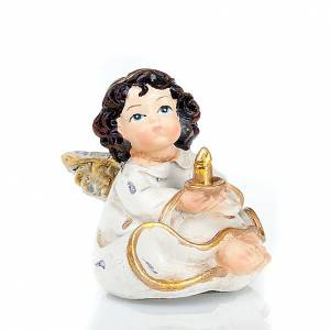 Christmas decoration, set of 4 gold and white angels s2