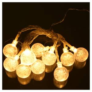 Christmas lights, 10 baubles warm white s2