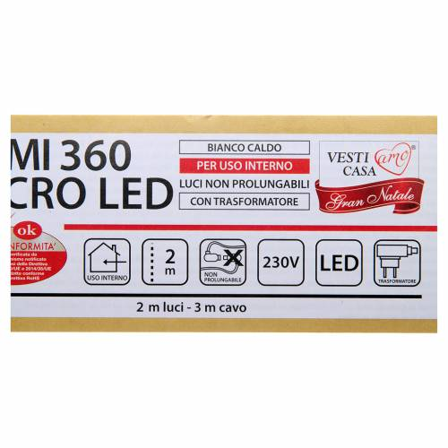 Christmas Lights: branches with 360 micro LED, warm white, indoor use s5