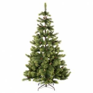 Artificial Christmas trees: Christmas tree 225 cm, green with pine cones Woodland Carolina