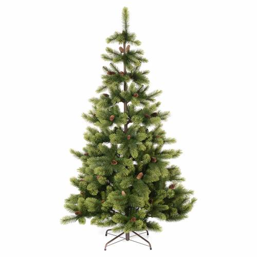 christmas tree 225 cm green with pine cones woodland carolina - Sales On Christmas Trees