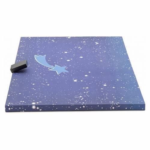 Ciel lumineux avec étoile filante crèche 50x70 cm s2