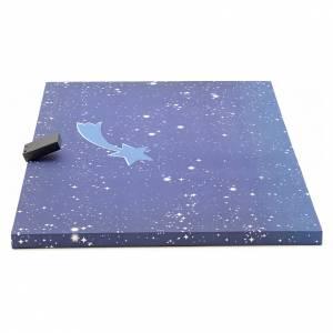 Fondos y pavimentos: Cielo luminoso pesebre con estrellas y cometa 50x70