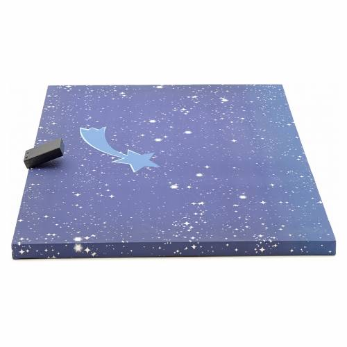 Cielo luminoso presepe con stella con cometa 50x70 s2