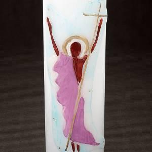 Bougies, cierges, chandelles: Cierges blancs avec décors