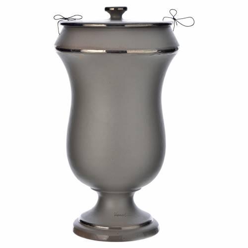 Cinerary urn in ceramic, light grey s1