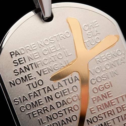 Ciondolo preghiera piastrina s3